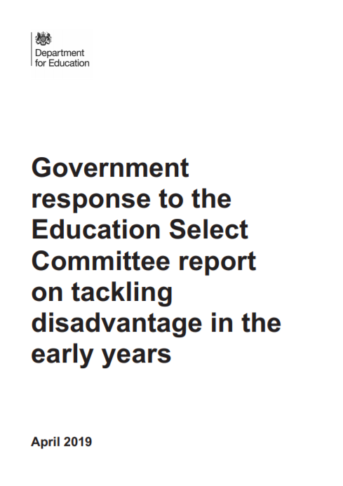 Government Response to the Education Select Committee Report on Tackling Disadvantage in the Early Years